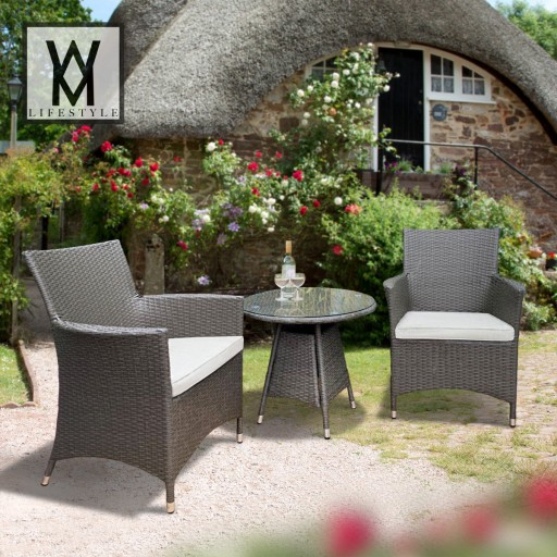 2 Seat Rattan Weave / Tea For Two Set